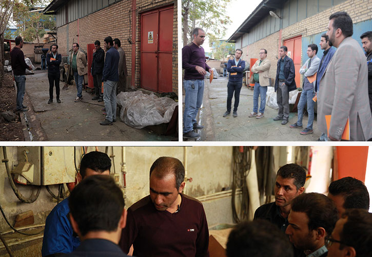بازدید از کارخانه فراگیران ارتینگ و صاعقه گیر مرکز آموزش مهندسی MeM
